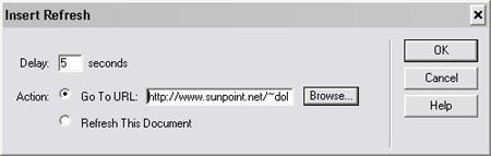 HTML Redirect Dreamweaverilla